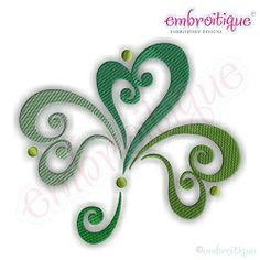 Ornate Curly Shamrock, Large - 7 Sizes!   What's New   Machine Embroidery Designs   SWAKembroidery.com Embroitique