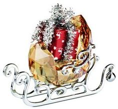 Swarovski Winter Sleigh - Vintage Crystal and Rhodium Filigree Sleigh