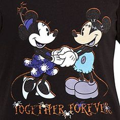 ''Together Forever'' Halloween Minnie and Mickey Mouse Tee for Women