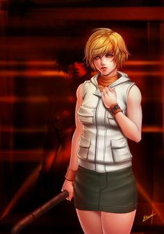 Heather Mason from Silent Hill Not my favorite Silent Hill, but for me the most fun to play and replay, also Heather was an awsome character! Silent Hill Art, Heather Mason, Female Protagonist, Sexy Nurse, Color Profile, Creepy Art, Best Series, More Cute, Anime Art Girl