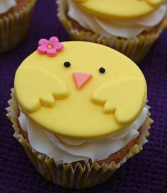 Click Pic for 25 Easter Cupcakes - Chirpy Chicks