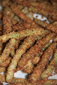 These Green Bean Fries are easy and delicious! They were perfect with burgers in place of french fries. #goinggreen