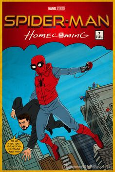 Spider-Man: Homecoming by Tevin Jones Marvel Comics Superheroes, Marvel Art, Marvel Heroes, Marvel Avengers, Spiderman Art, Amazing Spiderman, Comic Book Covers, Comic Books Art, Ok Kid