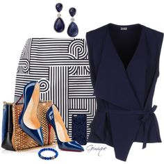 A fashion look from March 2016 by gemique featuring Mantù, Victoria, Victoria Beckham, Christian Louboutin, INC International Concepts and Samantha Warren London Style Outfits, Classy Outfits, Casual Outfits, Cute Outfits, Fashion Outfits, Womens Fashion, Fashion Trends, Work Fashion, Fashion Looks