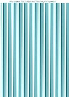 Lovely Striped Aqua Backing Paper 2 on Craftsuprint designed by Ceredwyn Macrae - A lovely Striped backing paper in Aqua can be used for male and female , - Now available for download!