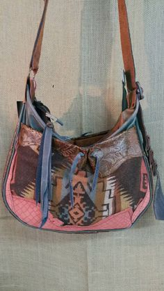 Handcrafted Leather Boho/Indie Crossbody/ by WhiteBuffaloCreation