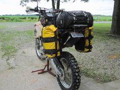Resultado de imagen de motorcycle tail bag xr650l