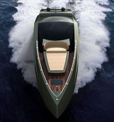 The Lamborghini Yacht brings lambo design sensibility to a smoother surface.