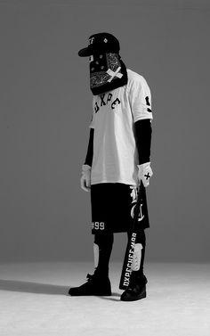 kontrast hvid sort.. maske