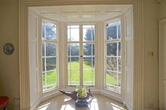 Lovely Regency bay window with French Doors and shutters & fine moulding - Warwickshire July - June 22 2019 at French Doors Bedroom, French Doors Patio, Patio Doors, Entrance Doors, Front Doors, Double French Doors, French Windows, Double Doors Interior, Interior Barn Doors