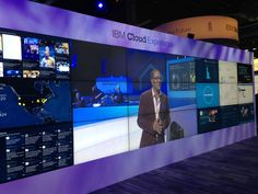 Video wall - Solution Expo @ IBM InterConnect 2015