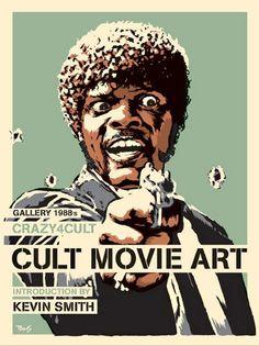 Pulp Fiction Cult Movie Art Samuel L. Jackson Crazy4Cult