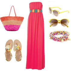Day at the Beach, created by ashley-dean-wood on Polyvore