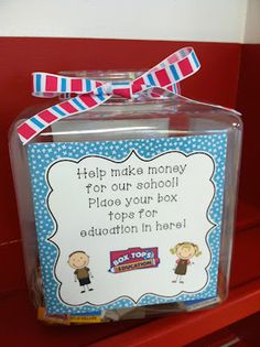 Very Cute Box Tops For Education Container! Cute Blog too!