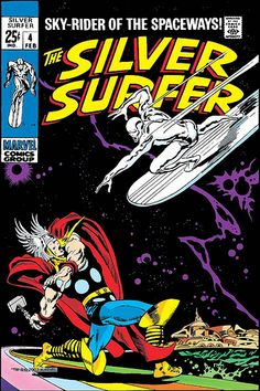 Silver Surfer 4 cover by John Buscema, 1968 by giantsizegeek, via Flickr