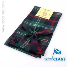 Sutherland Modern Tartan Mini Sash. Free Worldwide Shipping Available