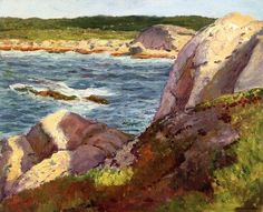 William Starkweater (Ireland 1879-1869) The Inlet Painted at Peggy's Cove, Nova Scotia, Canada (1948) oil on canvasboard 40.64 x 50.8 cm