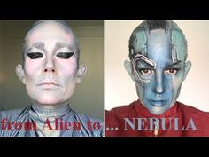 Once again I used the little I have here in Tunis to make these looks, you can find the alien look in my previous video. Mostly I used the FAKE BBROSE The Ba. Little My, Eyeshadow Palette, Mac Cosmetics, The Balm, Eyeliner, Halloween Face Makeup, Videos, Youtube, Instagram