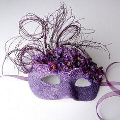 Purple Floral Flurry- Fairy, Mardi Gras, Venetian, Masquerade Mask