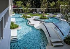 Residents Get Luxurious Garden and Pool Project in Thailand - Landscape Architects Network loveee Garden Pool, Garden Landscaping, Landscape Architecture, Landscape Design, Architecture Design, Luxury Swimming Pools, Modern Pools, Garden Route, Pool Designs
