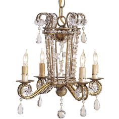 Small Serendipity Chandelier (1,155 CAD) ❤ liked on Polyvore featuring home, lighting, ceiling lights, mini lights, hanging chain lamp, miniature lights, mini chandelier lighting and chain chandelier