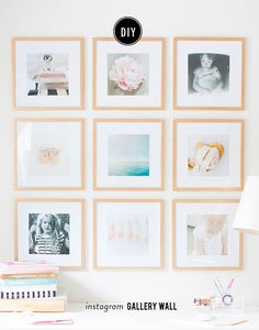 The 15 best tutorials for diy frames pinterest hardware gold this instagram gallery wall will inspire you to do something with your iphone photos solutioingenieria Images