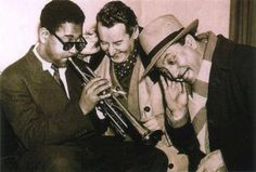 Django Reinhardt, Stephane Grappelli and Dizzy Gillespie
