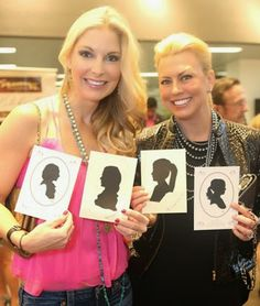 World record silhouette artist competition for UK film with Romy and Debbie. http://www.silhouettesbycindi.com  UK vs. USA!