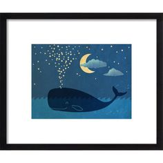 Start a nursery gallery wall for your little wizard with this charming framed print from Artfully Walls, perfect paired with other coastal decor to build an ...