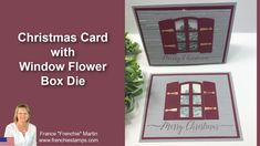 Christmas Cards To Make, Xmas Cards, Merry Christmas, Christmas Ideas, Window Box Flowers, Flower Boxes, Window Cards, Card Tutorials, Stampin Up
