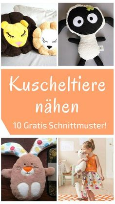 10 gratis Schnittmuster für KuscheltiereHere you will find ten great instructions including free sewing patterns for sewing cuddly toys. Whether cuddly pillows, snuffles or plush toys, children love their little playmates. They are often accompanied Homemade Stuffed Animals, Sewing Stuffed Animals, Sewing Patterns Free, Free Sewing, Kids Patterns, Sewing Toys, Sewing Ideas, Animal Projects, Sewing Projects For Beginners