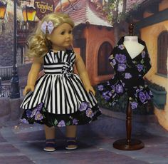 Paris Pansy Petal style dress and shawl for by cupcakecutiepie, $59.00