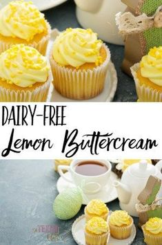 Bright and sunny, rich and creamy, this dairy-free lemon buttercream frosting would be perfect for any spring or Easter gathering. Plus, it uses doTERRA lemon essential oil to achieve a wonderful lemon flavor!
