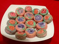 Monet inspired hand painted macarons by Julie Shaw