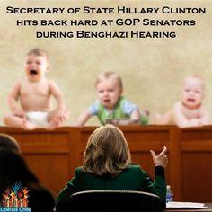 Secretary of State Hillary Clinton hits back hard at GOP senators during Benghazi hearing