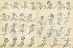 """This month's Master is Preston Blair. This month's Master is """"Preston Blair"""". He is a famous animator who worked on most of the . Classic Disney Characters, Disney Cartoon Characters, Disney Cartoons, Animation Career, Animation Reference, Animation Sketches, 3d Animation, Disney Animation, Pose Reference"""