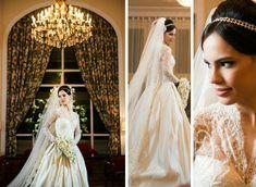 Noiva   Bride   Vestido   Dress   Vestido de noiva   Wedding dress   Bride's dress   Inesquecivel Casamento   Renda   Rendado   Vestido rendado   Véu   Véu de noiva   Grinalda   White dress   Vestido bordado   Bordado   Decote