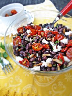 Black Bean and Oven-Roasted Cherry Tomato Salad