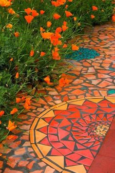 Mosaic Path - one more for the garden project book:) I could see this in a corner of my veggie garden - luv:)