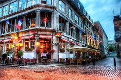 Dining in Old Montreal by Jim Nix