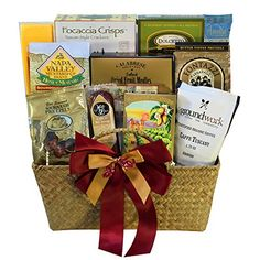 Art of Appreciation Gift Baskets The Finer Things Gourmet Food Gift Chest Gourmet snackers rejoice! We've designed a classy gift filled with the crunchy and tasty treats that they just can't get enough of. When the premium array of goodies are gone, this handsome woven basket makes useful storage space that perfectly complements any home, den or office decor. 🍩 #Gourmet #Food #Gifts