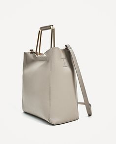 Image 4 of SOFT TOTE BAG WITH METALLIC HANDLES from Zara