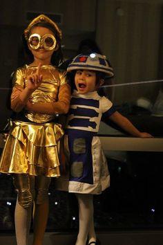 DIY trajes de Star Wars para crianças: instruções caseiros C3PO e R2D2 no Instructables
