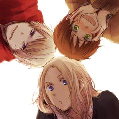 The Bad Touch Trio/Bad Friends Trio of Hetalia~! (Prussia, Spain, and France!)
