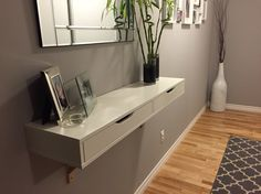 Ekby Alex in my entry way! $46.00 Great for narrow halls and perfect for storage!