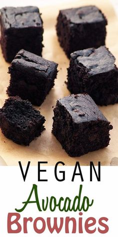 Healthy Vegan Avocado Brownies Easy and delicious vegan avocado chocolate brownies recipe with whole wheat flour. No eggs, No Butter. step by step photos are included. Vegan Avocado Brownies, Chocolate Avocado Brownies, Avocado Cake, Recipes With Avocado Vegan, No Egg Brownies, Healthy Recipes, Fruit Calories, Calories In Vegetables, Low Calories
