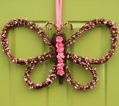 Butterfly Wreath - Spring and Summer Wreath - Mother's Day Gift - Door Decor - Ever Blooming Originals - 1