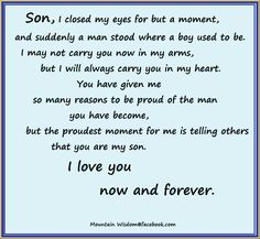 18 Proud Graduation Quotes. We are proud to show you some new graduation quotes…. Poem For My Son, Love My Son Quotes, Mother Son Quotes, Proud Of My Son, I Love My Son, Mom Quotes, Son Sayings, Famous Quotes, Card Sayings