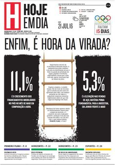 Capa do dia 21/07/2016 #HojeEmDia #Jornal #Notícias #News #Newspaper