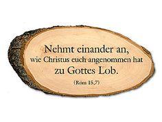 Holzschild mit Bibelspruch